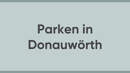 Jürgen Sorré - MEINE Meinung - Parken in Donauwörth