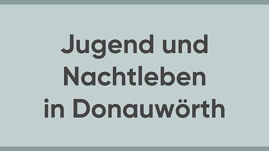 Jürgen Sorré - MEINE Meinung - Nachtleben und Jugend