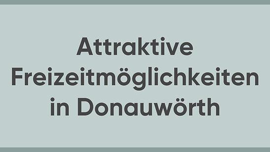 Jürgen Sorré - MEINE Meinung - Freizeitaktivitäten in Donauwörth