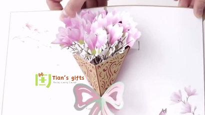 Bouquet pop up cards
