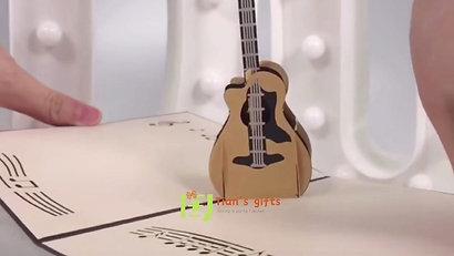 Guitar pop up card