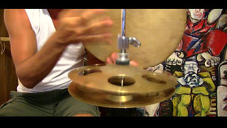 Moroccan Bendir with Qarkabeb mini hi-hats
