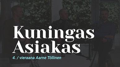 Kuningas Asiakas vieraana Baronan CMO Aarne Töllinen