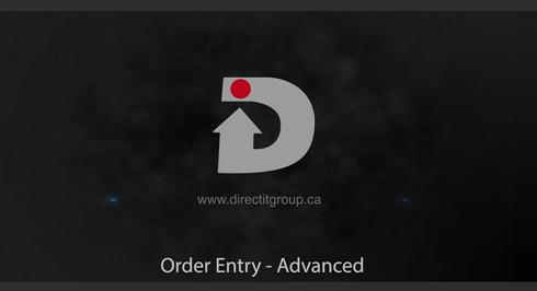 Order Entry Advanced