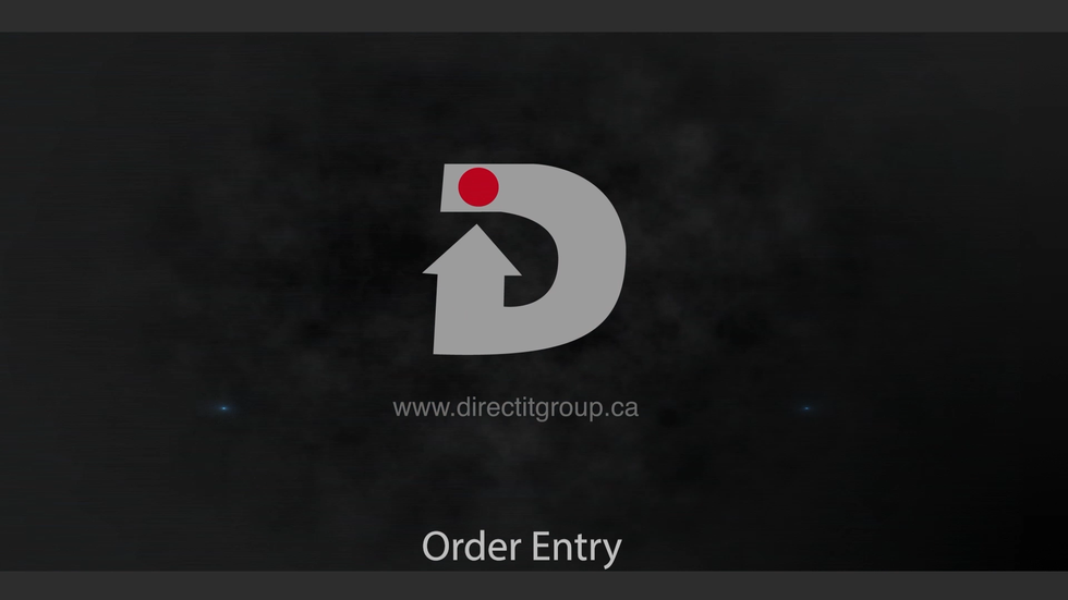Order Entry in DirectX