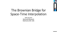 The Brownian Bridge for Space-Time Interpolation