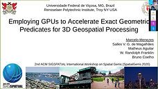 Employing GPUs to Accelerate Exact Geometric Predicates for 3D Geospatial Processing