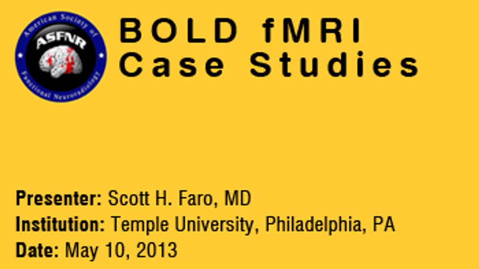Scott H. Faro, MD (10-May-2013)