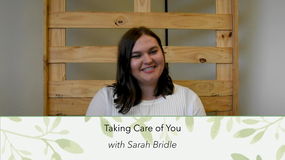 Sarah Bridle   Taking Care of You