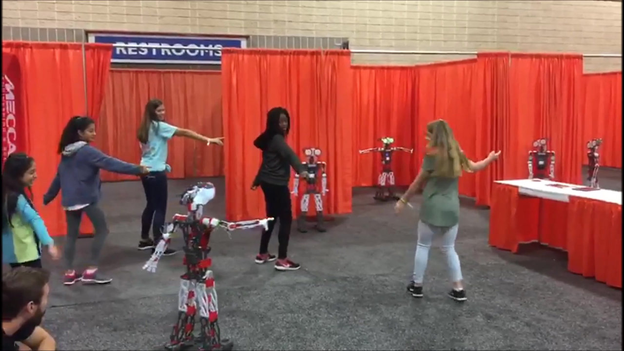 Students and R dance