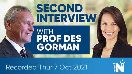 Second Interview with Prof Des Gorman