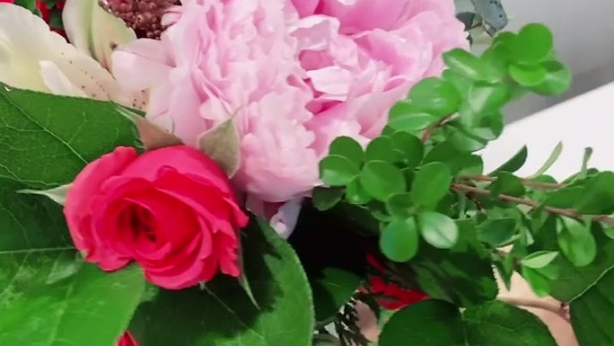 Peonies and Roselily