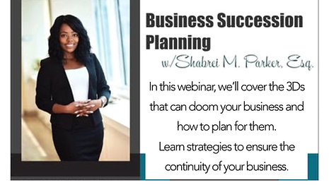Business Succession Planning Webinar
