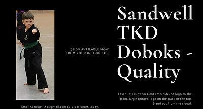 Sandwell TKD Merchandise