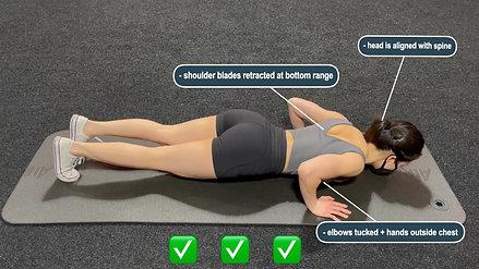 Correct pushup form