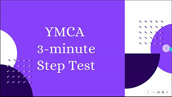 YMCA 3-Minute Step Test