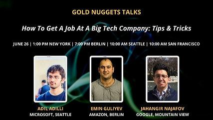 How to Get a Job at a Big Tech Company: Tips & Tricks