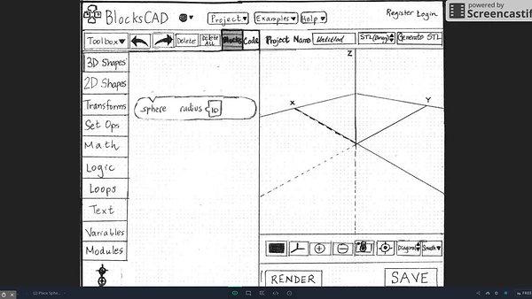 BlocksCAD- Paper Prototype Flow