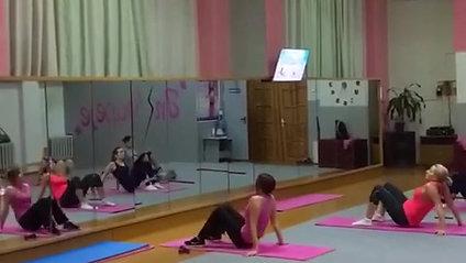 Тренировка в большом зале с Ольгой