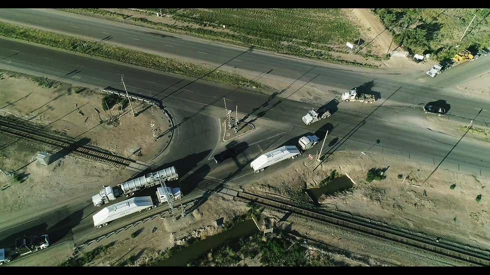 Aerial view of US 285 and 31