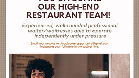 Orlando's Waitress Vacancies