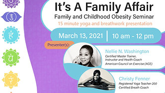 It's A Family Affair - Family and Childhood Obesity Seminar