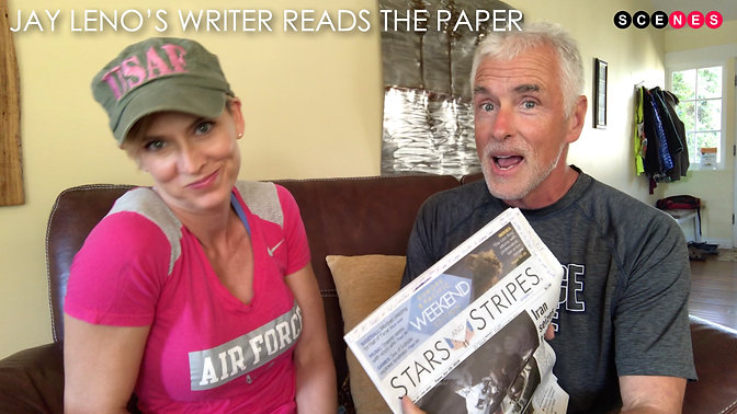 Leno's writer reads Stars and Stripes
