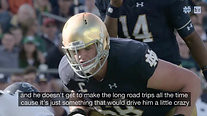 Notre Dame Captain Mike McGlinchey Surprised by Brother with Autism