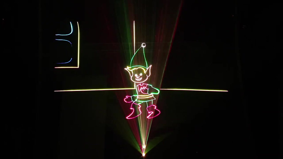 Show laser Christmas FC ARTIFICES