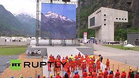 Ceremonia Luciferina en la Inauguración del Túnel de San Gotardo (2016)