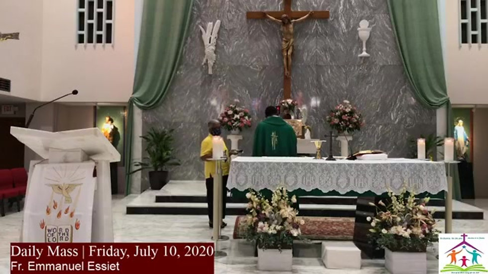 Daily Mass July 10th 2020