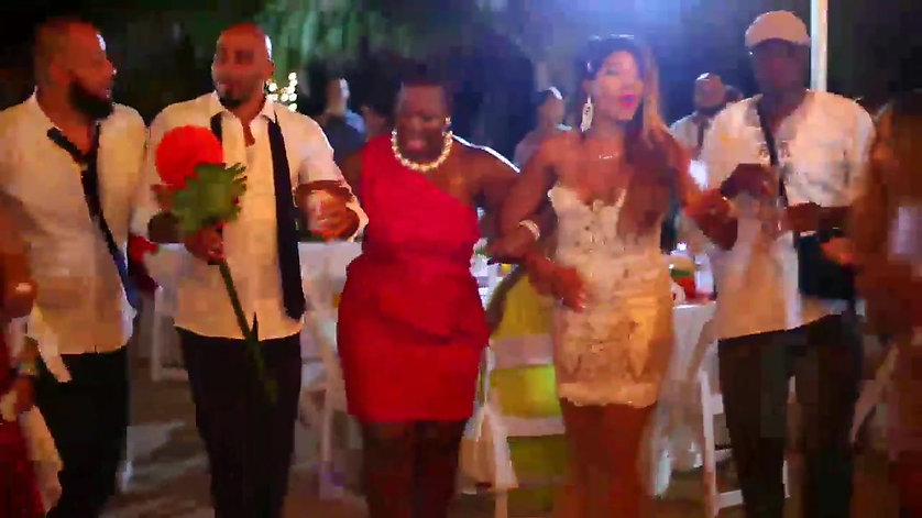 Behind the Scenes Jamaican beach wedding