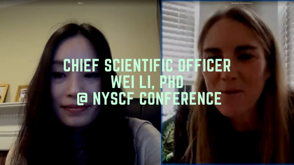Chief Scientific Officer Wei Li, PhD @ NYSCF Conference