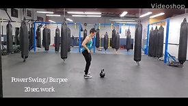 Power Swings-Burpees, Sit Swings, Extension Swings 10 Min. Explosive Starter or Finisher