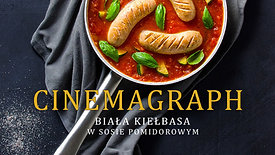 Cinemagraph - biała kiełbasa w sosie pomidorowym