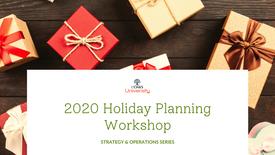 2020 Holiday Planning Workshop