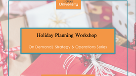 2020 Holiday Planning Workshop