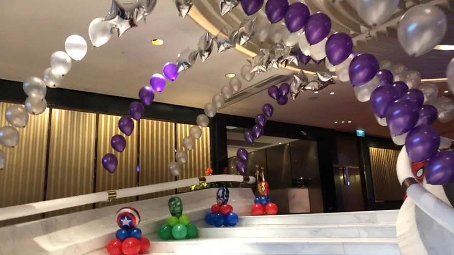 Helium Balloon Arch