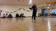 Bailando en la MINILONGA de Claudio y Anna