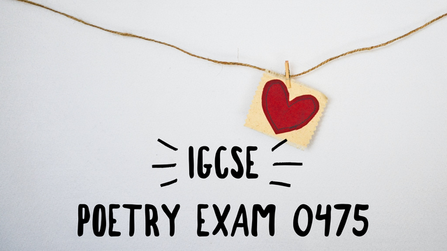 IGCSE Poetry Exam (Songs of Ourselves)