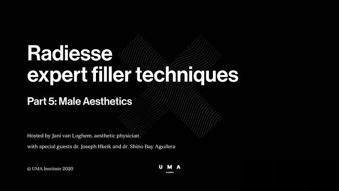Radiesse expert techniques 5 with special guests dr. Shino Bay Aguilera (USA) and dr. Joseph Hkeik (AUS). Male Aesthetics. Webinar recorded on May 14th, 2020