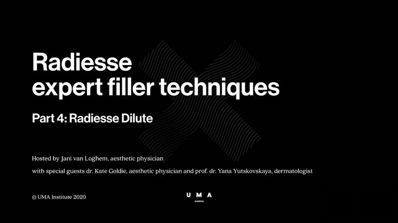 Radiesse expert techniques 4 with special guests dr. Kate Goldie (UK) and prof. dr. Yana Yutskovskaya (RUS). Radiesse Dilute. Webinar recorded on May 7th, 2020