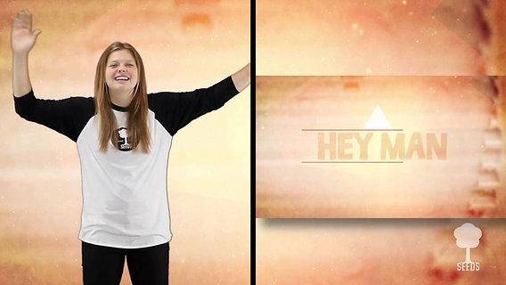 Hey Man Kids Worship Video for Kids Hand Motions Split Screen