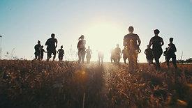 Ochtendrun in het veld