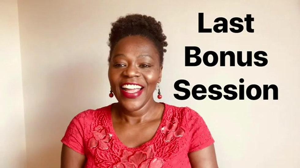The last bonus
