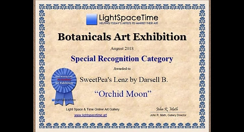 SweetPea's Lenz by DarsellB on Exhibit at Botanicals 2018 Exhibition