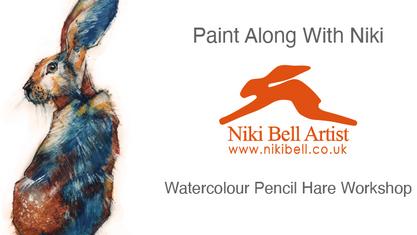Watercolour Pencil Hare  - £10
