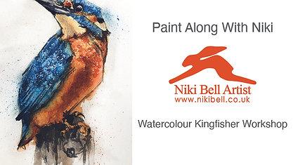 Watercolour Kingfisher - £10