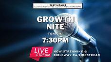 Testimonies | Growth Nite | Pastor Raymond Grant