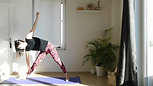 3 poses Guerrier et 2 variantes triangle